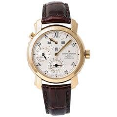 Vacheron Constantin Malte Dual Time Regulator 42005 Automatic 18 Karat YG Watch