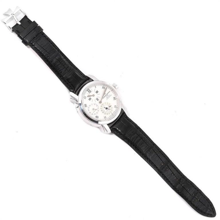 Vacheron Constantin Malte Dual Time Regulator White Gold Men's Watch 42005 For Sale 6