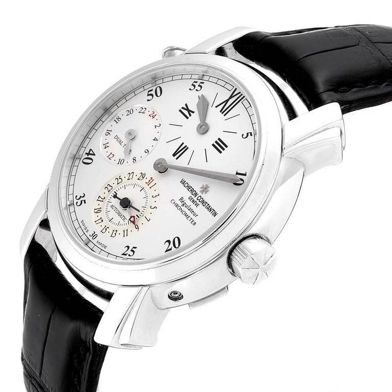 Vacheron Constantin Malte Dual Time Regulator White Gold Men's Watch 42005 For Sale 1