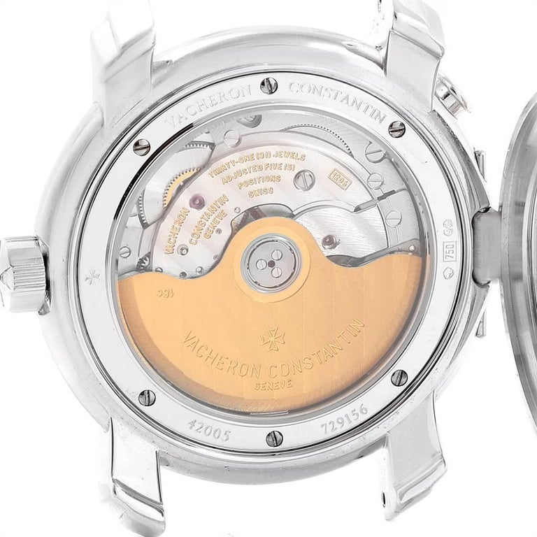 Vacheron Constantin Malte Dual Time Regulator White Gold Men's Watch 42005 For Sale 2