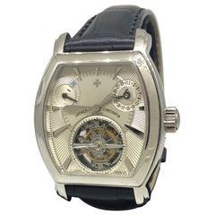 Vacheron Constantin Malte Platinum Tonneau Shape Tourbillon Men's Watch 30066/2