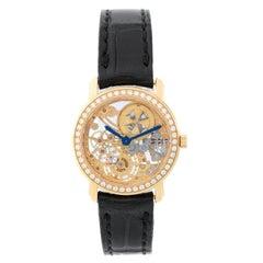 Vacheron Constantin Yellow Gold Malte Skeleton Openworked Wristwatch