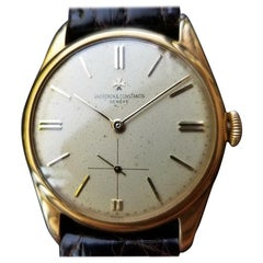 VACHERON & CONSTANTIN Men's 18K Gold Dress Watch 4066 Hand-Wind, c. 1950s MS233