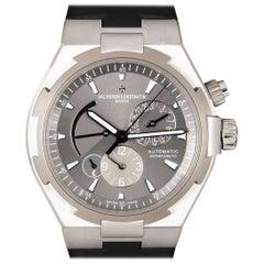 Vacheron Constantin Oversea Dual Time Steel Grey Dial 47450 Wristwatch B&P