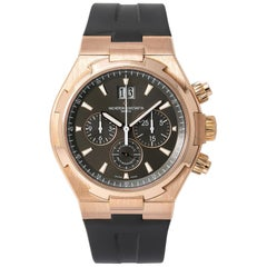 Vacheron Constantin Overseas 49150 Automatic Chronograph Watch 18k RG with B&P