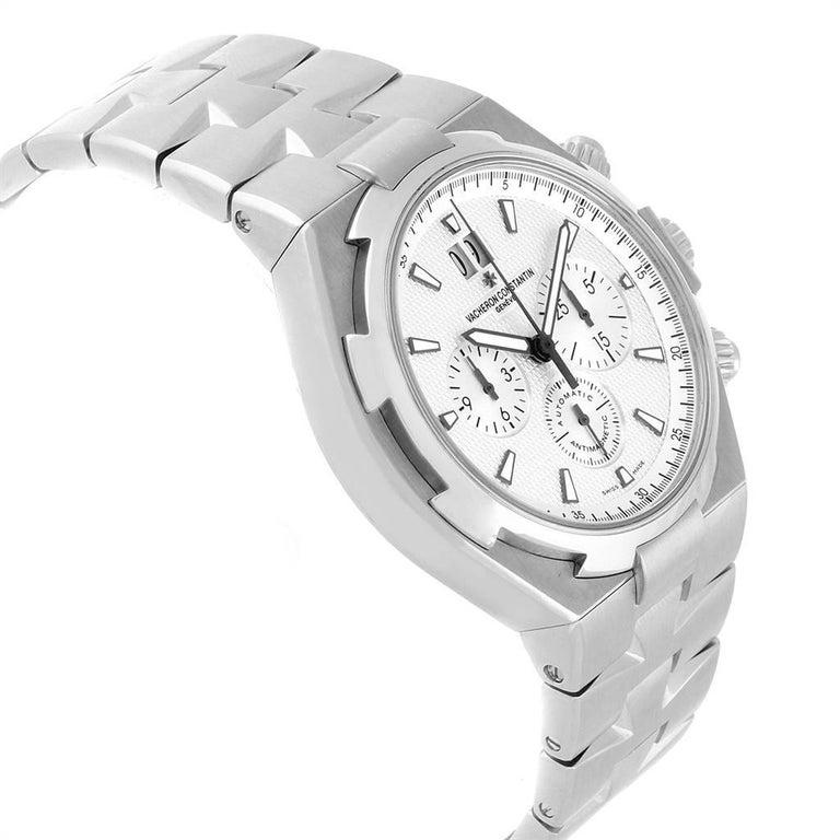 Vacheron Constantin Overseas Chronograph Silver Dial Men's Watch 49150 In Excellent Condition For Sale In Atlanta, GA