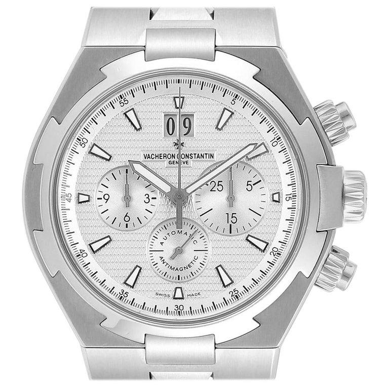 Vacheron Constantin Overseas Chronograph Silver Dial Men's Watch 49150 For Sale