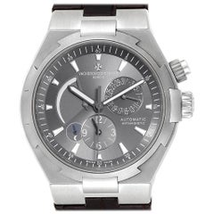 Vacheron Constantin Overseas Dual Time Grey Dial Men's Watch 47450