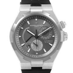 Vacheron Constantin Overseas Dual Time Grey Dial Men's Watch 47450