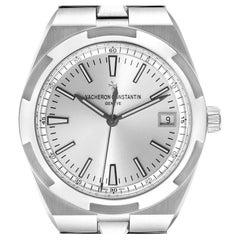 Vacheron Constantin Overseas Silver Dial Steel Mens Watch 4500V Unworn