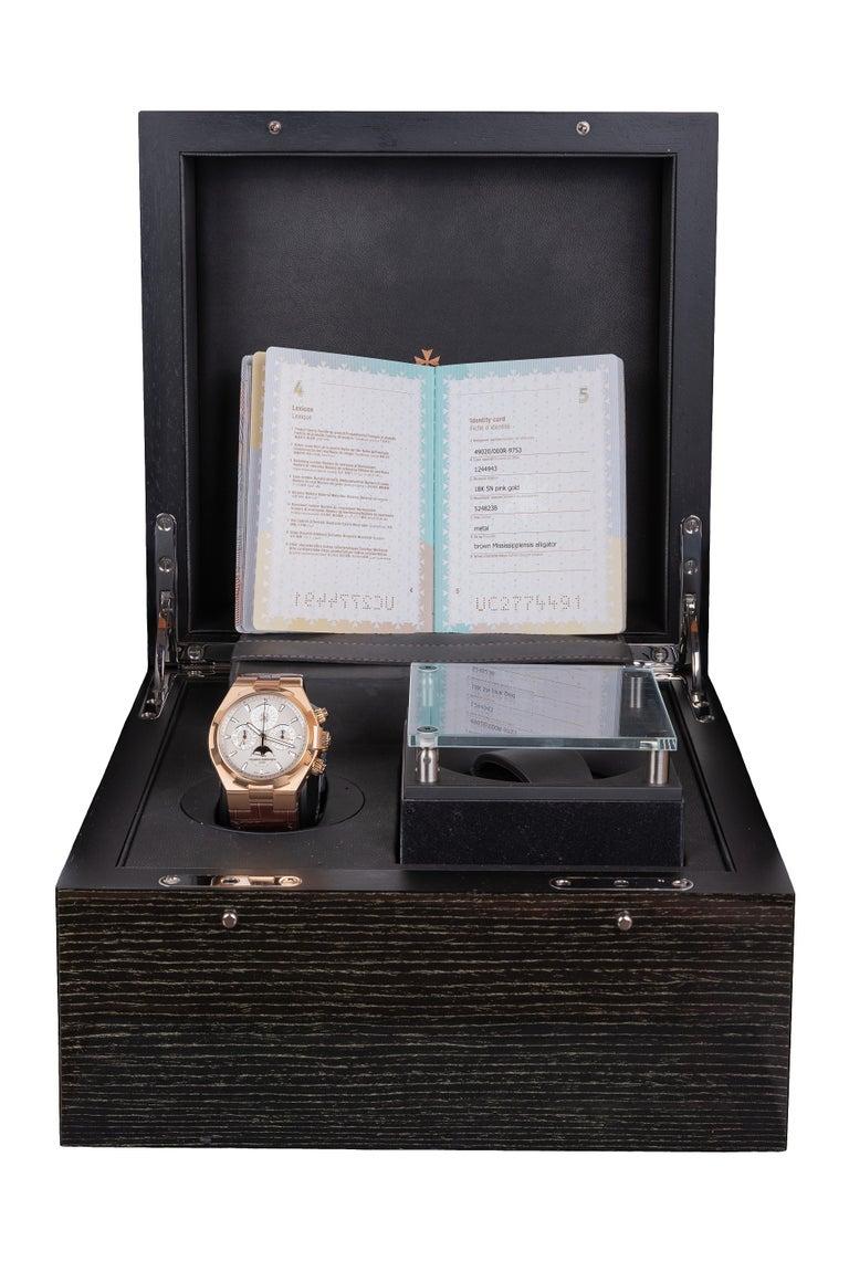 Vacheron Constantin Overseas Watch Chronograph Perpetual Calendar Rose Gold Case For Sale 5