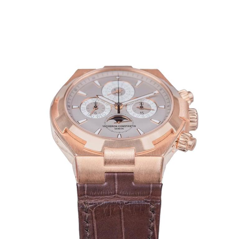 Contemporary Vacheron Constantin Overseas Watch Chronograph Perpetual Calendar Rose Gold Case For Sale