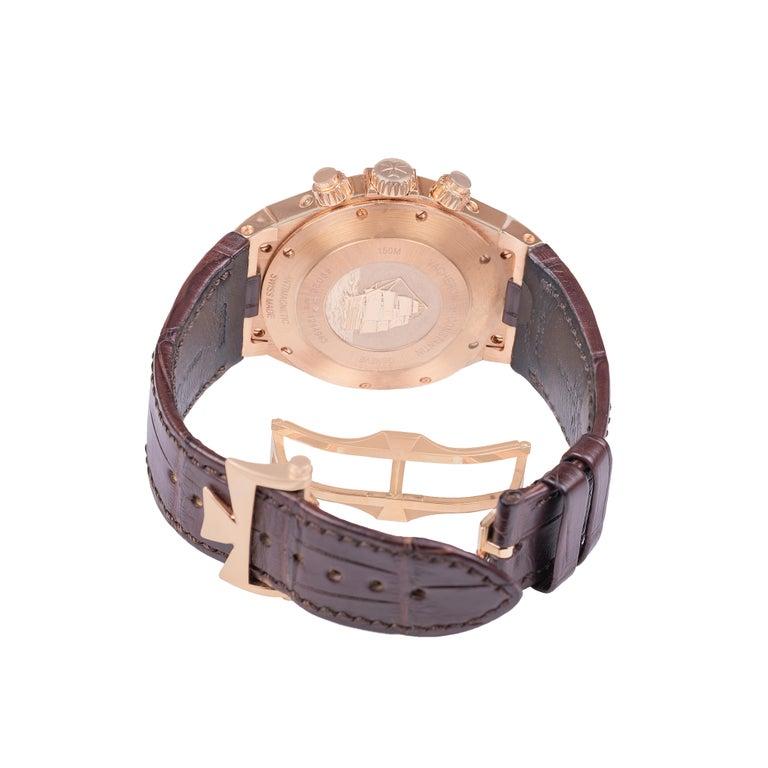 Men's Vacheron Constantin Overseas Watch Chronograph Perpetual Calendar Rose Gold Case For Sale
