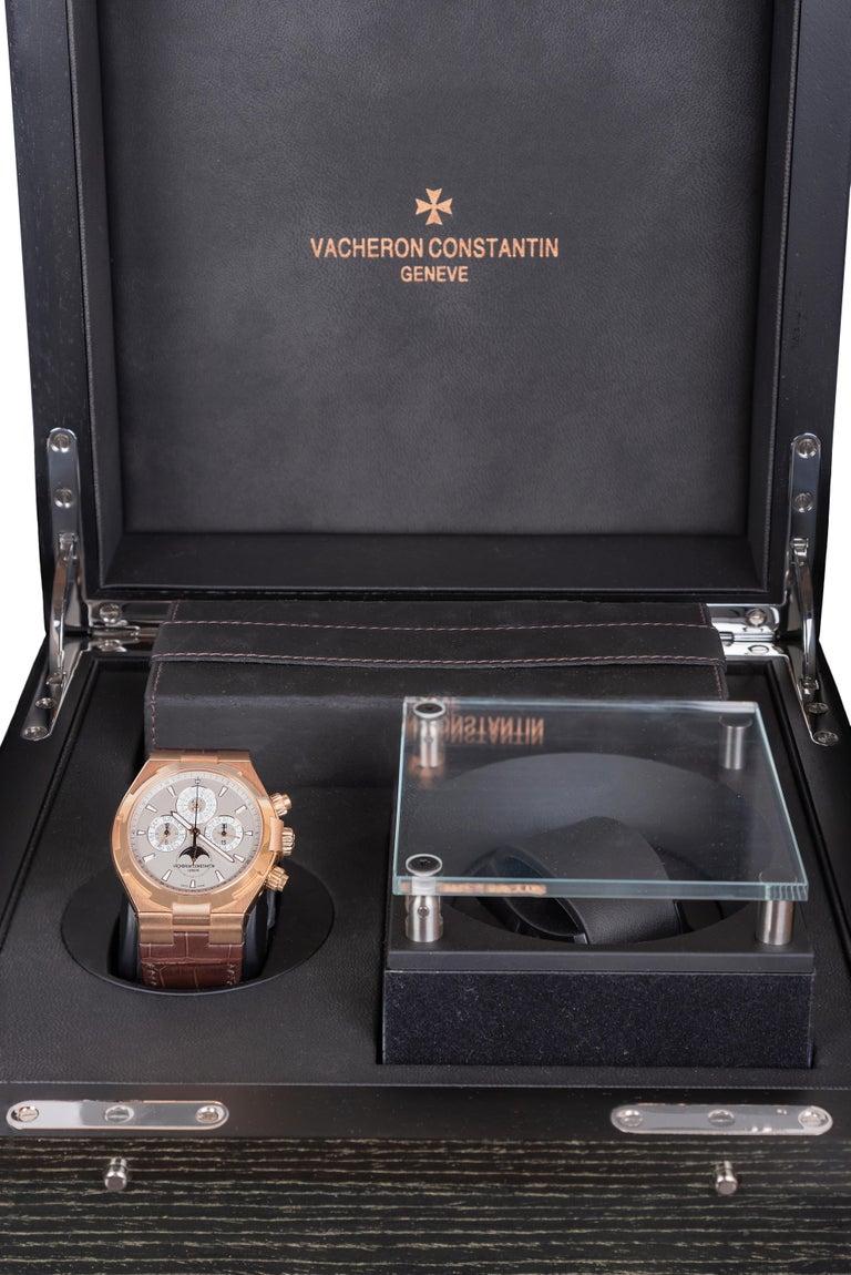Vacheron Constantin Overseas Watch Chronograph Perpetual Calendar Rose Gold Case For Sale 2