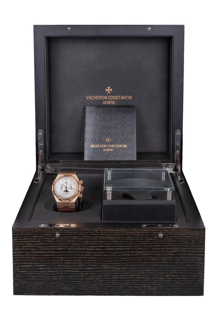 Vacheron Constantin Overseas Watch Chronograph Perpetual Calendar Rose Gold Case For Sale 3