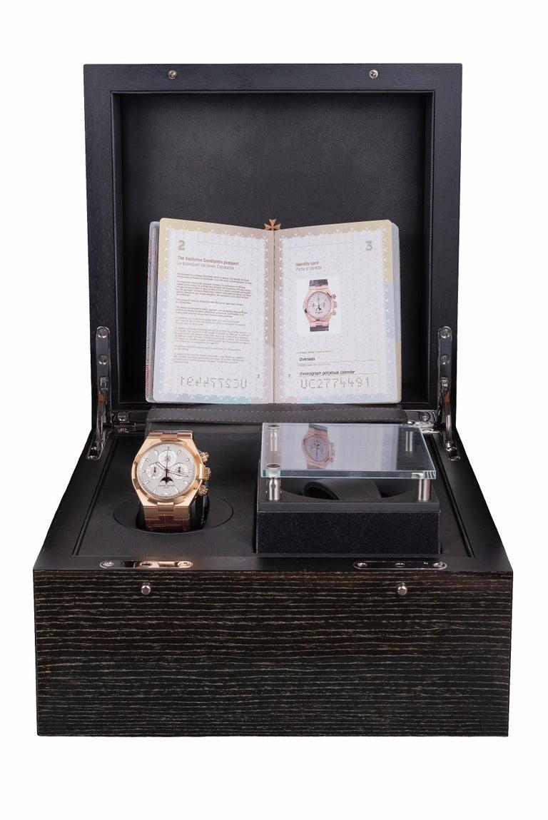 Vacheron Constantin Overseas Watch Chronograph Perpetual Calendar Rose Gold Case For Sale 4