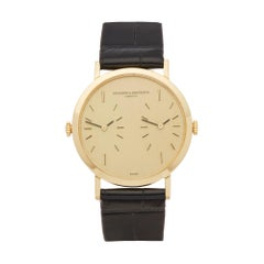 Vacheron Constantin Patrimony Dual Time 18 Karat Yellow Gold