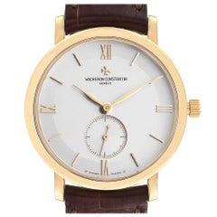 Vacheron Constantin Patrimony Yellow Gold Silver Dial Men's Watch 81160