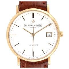 Vacheron Constantin Patrimony Yellow Gold White Dial Men's Watch 42002