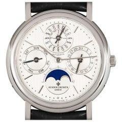 Vacheron Constantin Perpetual Calendar Platinum Silver Dial 43032/6