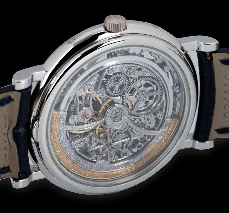Vacheron Constantin Perpetual Calendar Platinum Skeleton Dial 43032/6 For Sale 3