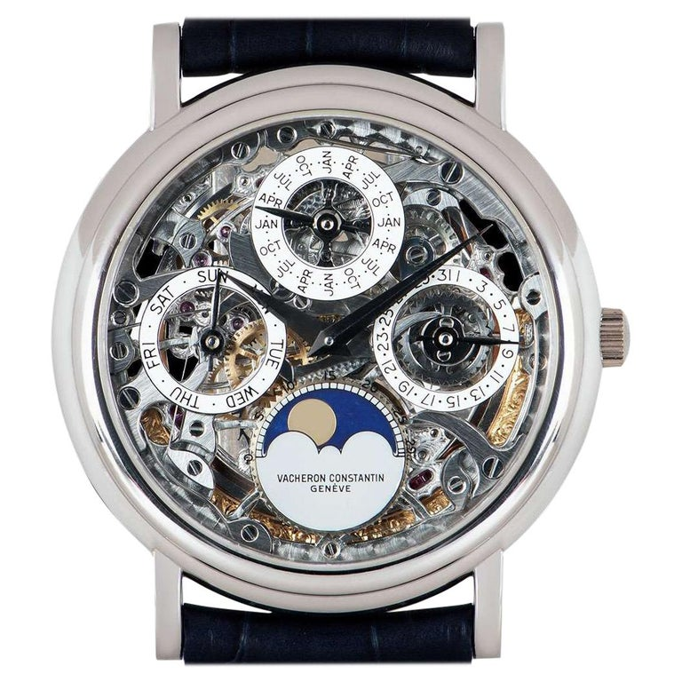 Vacheron Constantin Perpetual Calendar Platinum Skeleton Dial 43032/6 For Sale