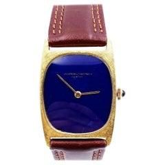 Vacheron Constantin Ref 7813 18 Karat Yellow Gold Lapis Lazuli Dial Very Rare