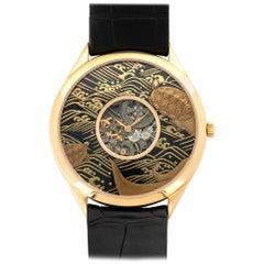 Vacheron Constantin Rose Gold Enamel Metiers D'Art Skeleton Wristwatch