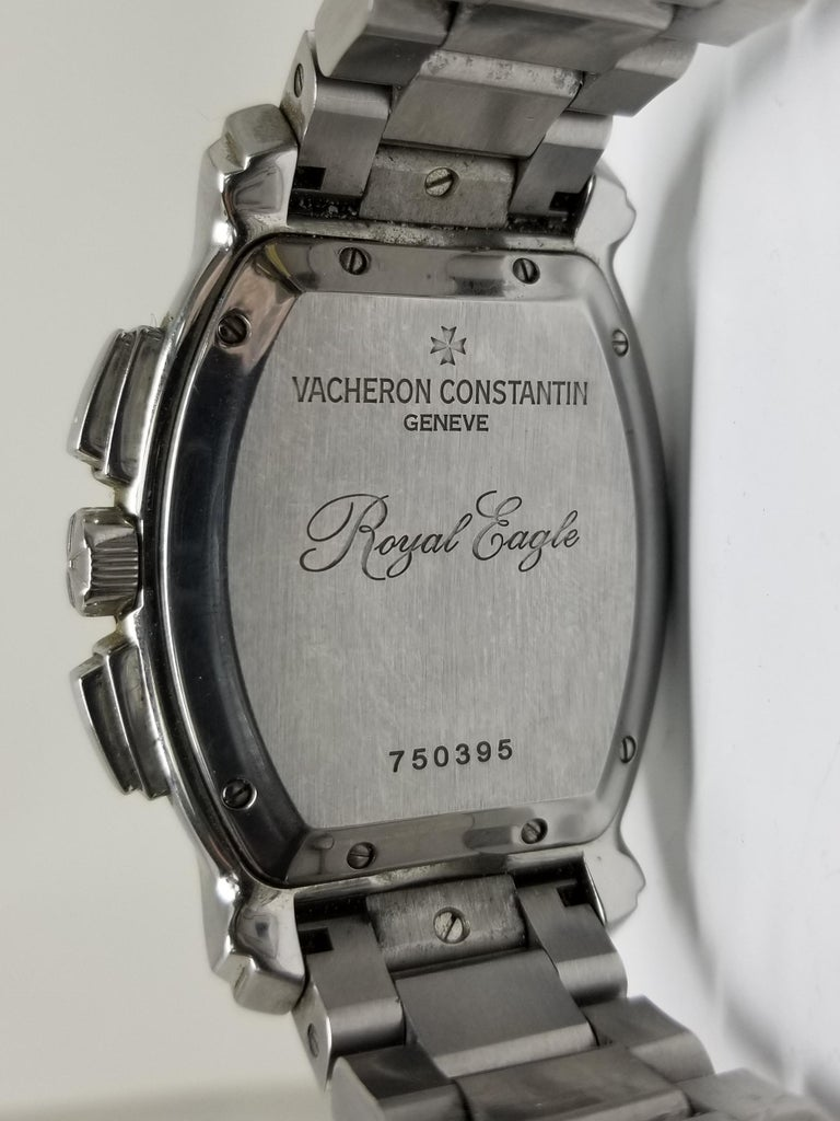 Women's or Men's Vacheron Constantin Royal Eagle Stainless Steel Chronograph Automatic Wristwatch