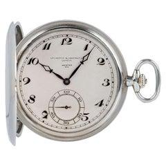 Vacheron Constantin Vintage Full Hunter Pocket Watch Double Name Meister Rio