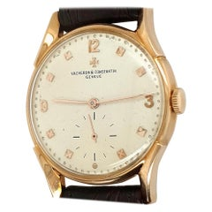 Vacheron Constantin Vintage Watch 1956 Fancy Lugs and Swan Regulation, Pink Gold