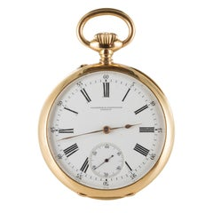 Vacheron Constantin Yellow and Rose Gold Chiseled Pocket Watch, circa 1895