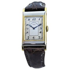 Vacheron Constantin Yellow and White Gold Art Deco Watch, circa 1930s