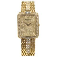 Vacheron Constantin Yellow Gold and Diamonds Bracelet Wristwatch