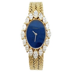 Vacheron Constantin, Yellow Gold Jewelry Watch, Diamonds and Lapis Lazuli