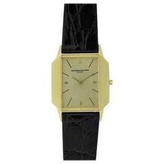 Vacheron Constantin Yellow Gold Ultra Thin Handmade Engine Turned Watch