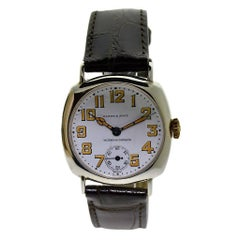 Vacheron Constantin Sterling Silver Enamel Dial Manual Wristwatch, circa 1903
