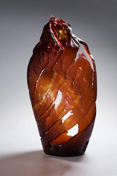 """Element 11"" by Vaclav Rezac Blown Glass Rusty Brown"