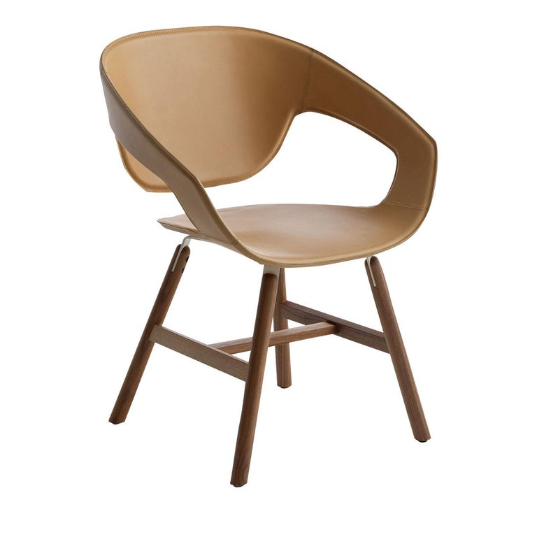 Marvelous Vad Leather Chair With Wood Legs By Luca Nichetto Unemploymentrelief Wooden Chair Designs For Living Room Unemploymentrelieforg