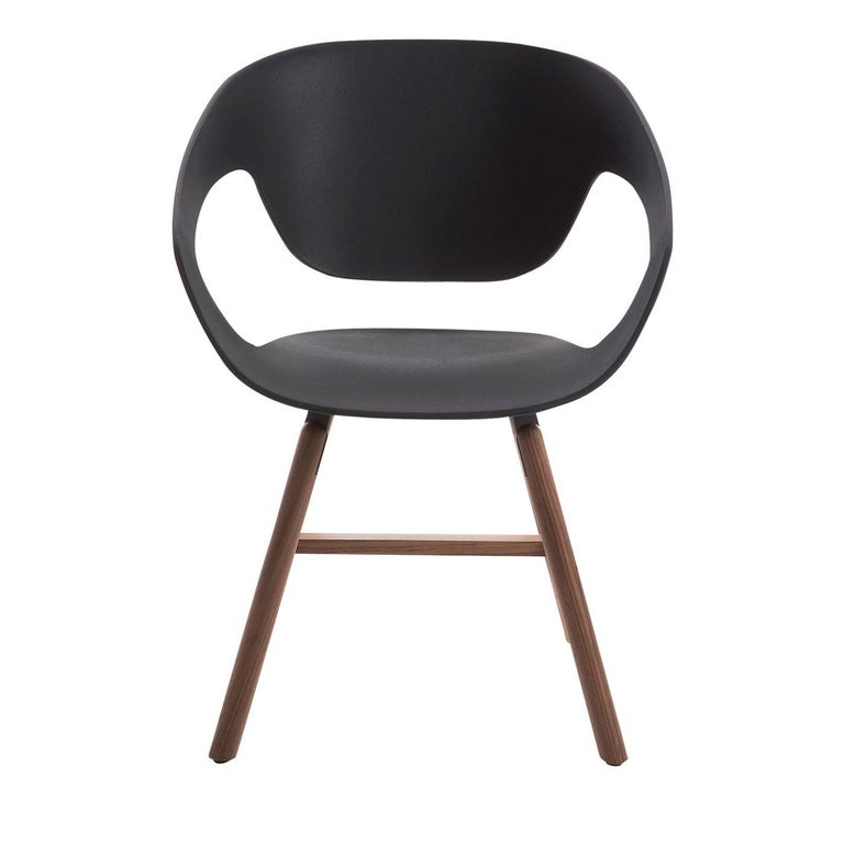 Vad Set of 2 Black Chairs by Luca Nichetto # 2 In New Condition For Sale In Milan, IT