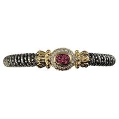 Vahan Sterling Silver/14 Karat Yellow Gold Pink Topaz and Diamond Bracelet