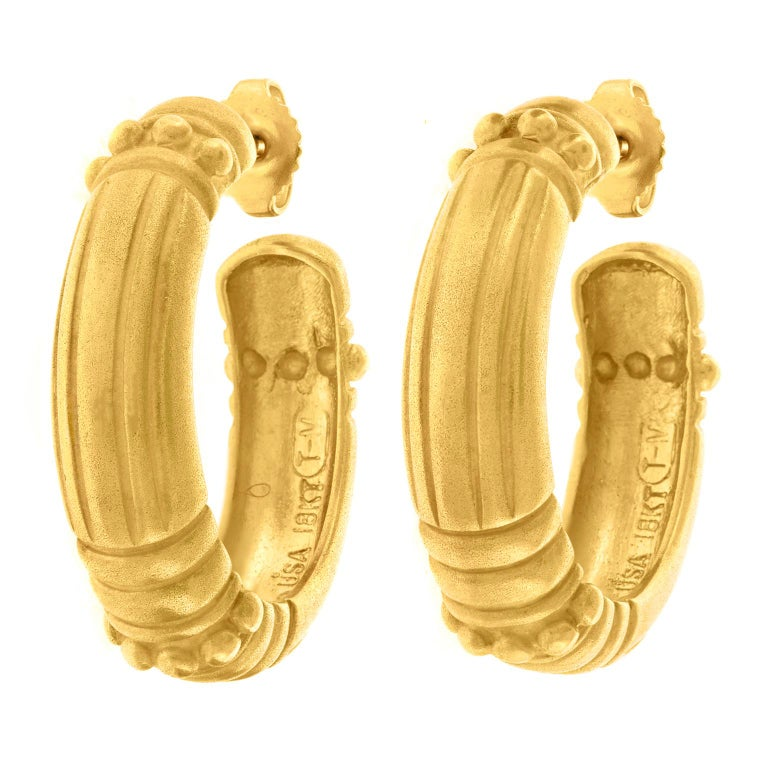 Vahe Naltchayan Hoop Earrings In Excellent Condition For Sale In Litchfield, CT