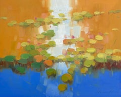 Autumn Pond, Original oil Painting, Ready to Hang