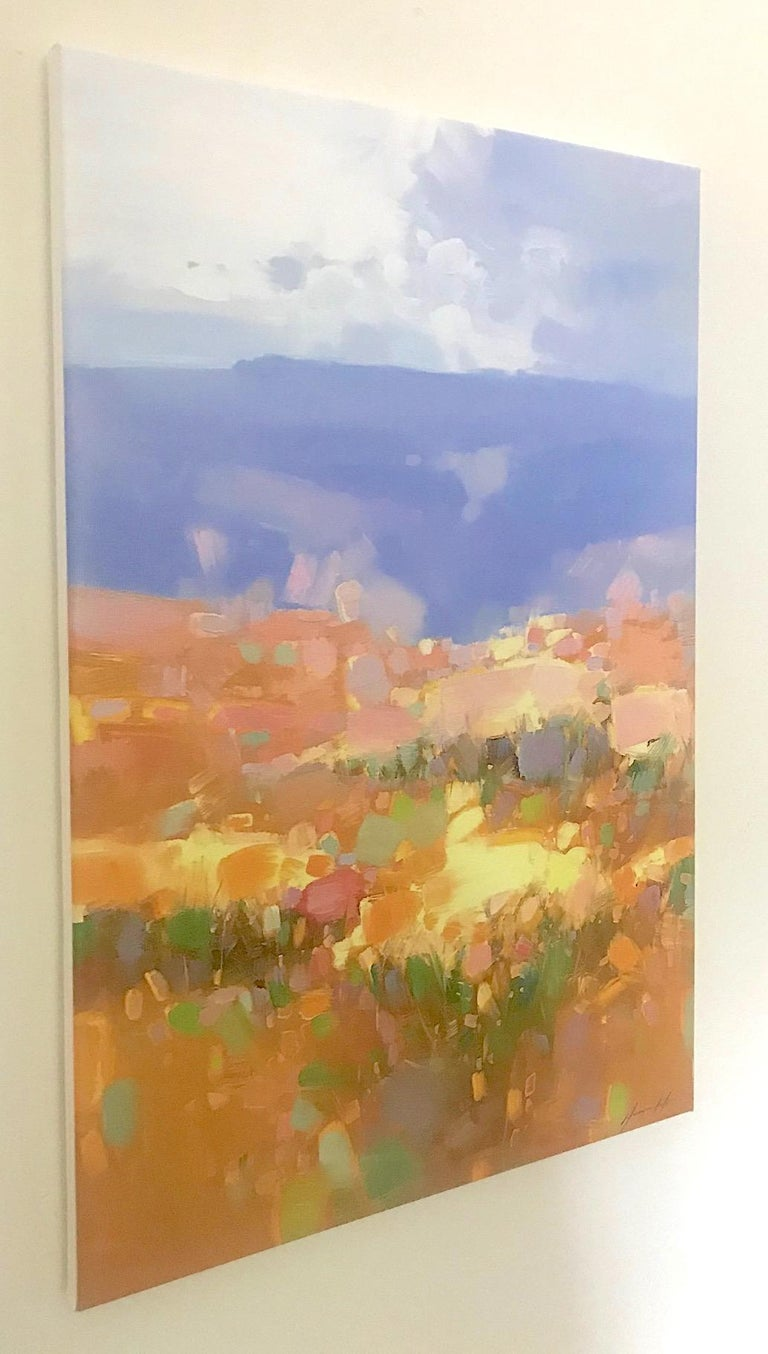 Autumn Valley, Print on Canvas - Painting by Vahe Yeremyan
