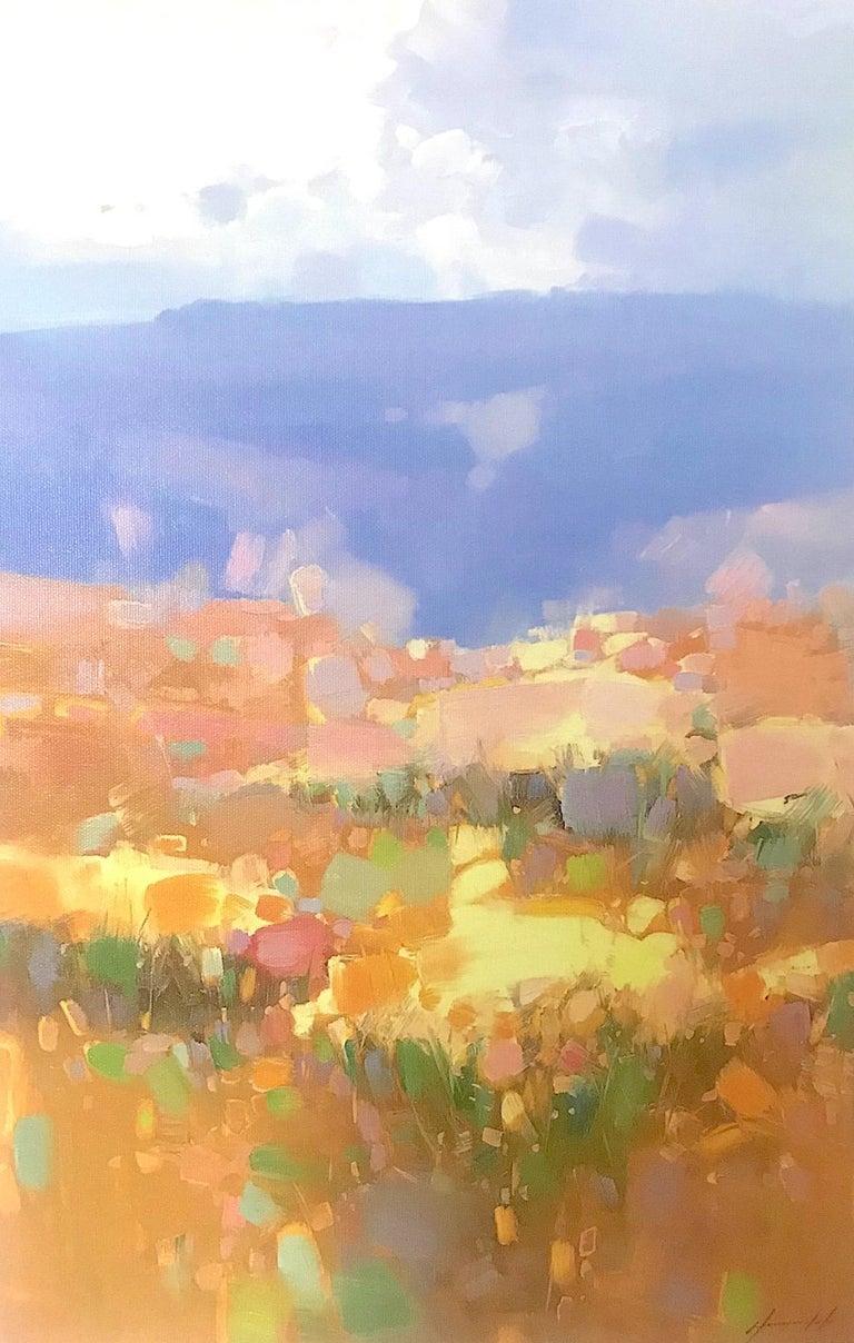 Vahe Yeremyan Landscape Painting - Autumn Valley, Print on Canvas