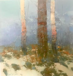 Birches Trees, Print on Canvas