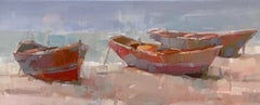 Boats on the Shore Print on Canvas