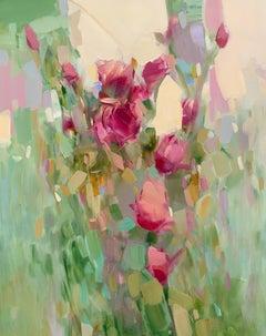 Bouquet of Roses, Original Oil Painting, Handmade Artwork