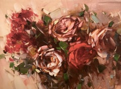 Bouquet of Roses Print on Canvas