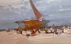Sail Boat Print on Canvas